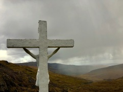 A cross in the Healy Pass, on the Beara Peninsula, Co. Kerry