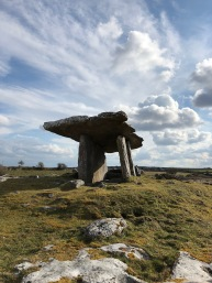 The Poulnabrone Dolmen, a prehistorical portal tomb located in The Burren, Co. Clare
